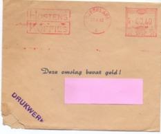 Omslag Enveloppe  - Koffies Hostens Roeselare - Afzender  Magriet Clincke , Maria Aalter - 1963 - Enteros Postales