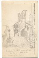 CARTE FM DRAPEAUX DESSIN AU DOS CLOCHER OBL TRESOR ET POSTES 112 24 NOV 1915 POUR VALENCE DROME - Storia Postale