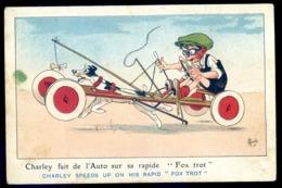 Cpa Illustrateur Mich  -- Charley Fait De L' Auto Sur Sa Rapide Fox Trot   LZ93 - Mich