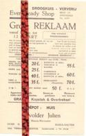 Pub Reclame - Droogkuis Ververij Ever Ready Shop Zwevezele - Depot Devolder Julien , Aalter - Publicidad