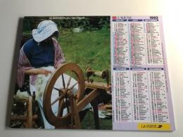 Calendrier Almanach Du Facteur AIN - 1993 - Le Marechal Ferrant / Fileuse Au Rouet - Grossformat : 2001-...
