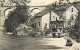 L' Usine Electrique Scierie Et Minoterie Du Viaduc De La Cère Près Laroquebrou RV - Altri Comuni