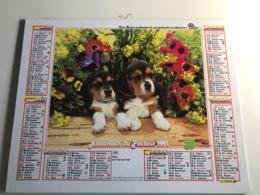 Calendrier Almanach Du Facteur AIN - 1991 - Berger Allemand / Beagles - Grossformat : 2001-...