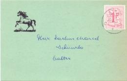 Pub Reclame - Briefkaart Ruitertornooi  - Aalter 1967 - Publicités