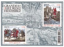France Oblitération Cachet à Date BF N° F 4704 - Les Grandes Heures De L'Histoire - Ste Geneviève, Clovis - Sheetlets
