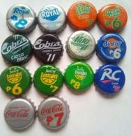 14 Different Philippines  Bottle Caps - Soda