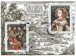 France Oblitération Cachet à Date BF N° F 5236 - Les Grandes Heures De L'Histoire. Traité Des Pyrénées. M.-T. D'Autriche - Sheetlets