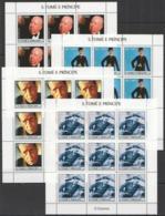 ZZ321 2004 S.TOME E PRINCIPE ART CINEMA GREAT ACTORS CHAPLIN PRESLEY !!! 9SET MNH - Cinéma