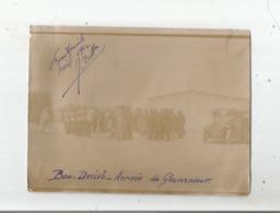 BOU DENIB (MAROC) PHOTO AVEC L'ARRIVEE DU GOUVERNEUR ET MILITAIRES FRANCAIS  AVRIL 1912 - Guerra, Militares