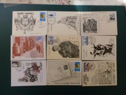 Kartonnen Doos 11/lot60   14 CP DIFFERENT JOURNEE DU TIMBRE FRANCE - Tag Der Briefmarke