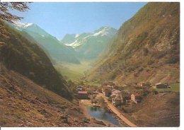 FOCE DI MONTEMONACO ( AP )  M. 945 PANORAMA  -  SULLO SFONDO :  SCOGLIO DEL LAGO  M. 2488 ( MONTE VETTORE ) - Ascoli Piceno