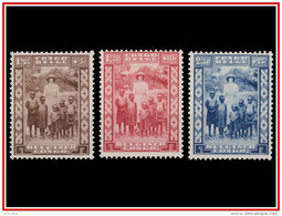 Congo 0194/96*  Protection De L'enfance Noire  -H- - 1923-44: Mint/hinged