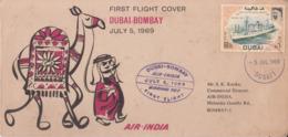 Dubai  1969  Air India  Dubai - Bombay  First Flight Cover   #  221841  CB & D  Indien Inde India - Dubai