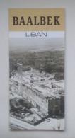 Lebanon Liban Baalbek Tourist Brochure Depliant Touristique 70's - Reiseprospekte
