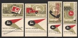 Israel 1959 Yv. 146-49, Post Activities – Tab - MNH - Nuevos (con Tab)