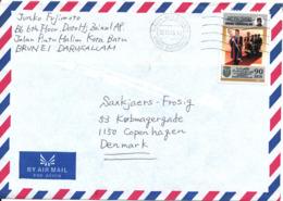 Brunai Darussalam Air Mail Cover Sent To Denmark 30-10-1999 Single Franked - Brunei (1984-...)