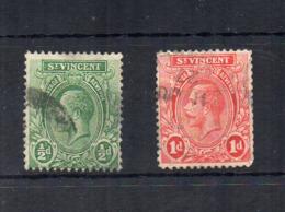 Gran Bretagna - (Vecchie Colonie E Protettorati - ST. VINCENT) - 1913 - 1/2 D. E 1 D - Usati - (FDC18447) - St.Vincent (...-1979)