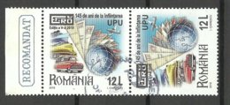 ROMANIA Rumänien 2019 Philatelic Exhibition EFIRO UPU As Pair O - 1948-.... Repubbliche