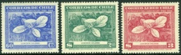 CHILE 1948 GAY's NATURAL HISTORY, THE 3 LOXODON VALUES** (MNH) - Cile