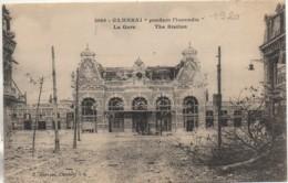 59 CAMBRAI  Pendant L'Incendie La Gare - Cambrai