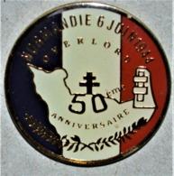 Rare Pin's Débarquement 50 Eme Anniversaire Overlord 6 Juin - Militaria
