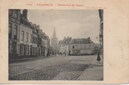 59 HAZEBROUCK  Grande Rue Et L'Eglise - Hazebrouck