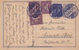 ALLEMAGNE 1922  ENTIER POSTAL/GANZSACHE/POSTAL STATIONERY CARTEDE WURZBACH - Germania