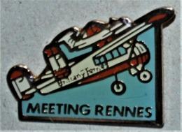 Rare Pin's Meeting Aérien De Rennes - Airplanes