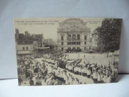 AUTUN 71 SAÔNE ET LOIRE BOURGOGNE ENTRÉE SOLENNELLE DE MGR VILLARD LE 20 AOÛT 1906 L'ENSEMBLE DO CORTÈGE CPA - Autun