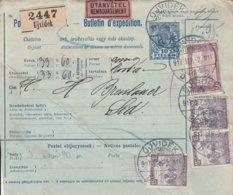 Bulletin D'expédition De UJVIDEK Du 2.9.1917 Adressé à Sid - Paketmarken