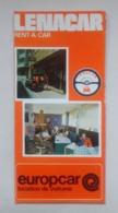Lebanon Liban Lenacar Rent-a-car Price List Location De Voiture Liste De Prix Tourist Brochure Depliant Touristique 1974 - Tourism Brochures