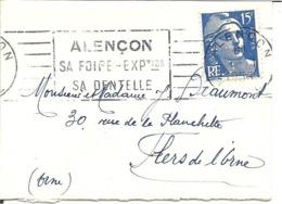 Y & T  N°  886  Perforé   C L 208  LSC 1957 Mignonette (9x6,5) - France