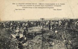 Militaria LA GRANDE GUERRE  1914 16 Offensive Franco Anglaise De La Somme La Relève Aux Tranchées De Première Liigne RV - Guerra 1914-18