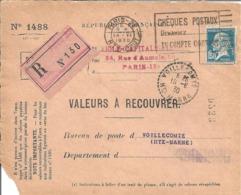 Y & T  N°  181  Perforé   S. A  16  Devant De Lettre Ind C - France