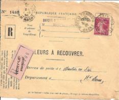 Y & T  N°  238  Perforé   B.A.L  22  Devant De Lettre Ind C - France
