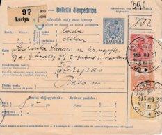 Bulletin D'expédition De KURTYA Du 25.1.1915 Adressé à Paripas - Paketmarken