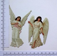 2 CHROMOS DECOUPIS.......ANGES .. H : 8 ET 11 Cm..... ANGES  BLANCS - Angels