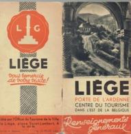 Liège Autrefois : Nombreuses Photos Anciennes De La Ville Dans Une Brochure éditée Par L'Office Du Tourisme (vers 1950) - Documents Historiques