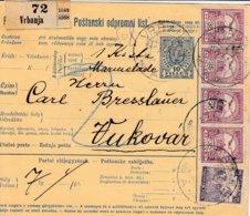Bulletin D'expédition De VRBANJA Du 10.4.1917 Adressé à Vukovar - Paketmarken