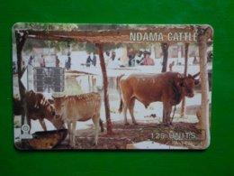 Télécarte Gambie, NDAMA CATTLE, 125 Unités, Utilisé, Traces - Gambia