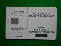 Télécarte Gambie, 125 Unités, Utilisé, Traces - Gambia