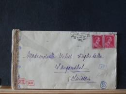 A11/713 LETTRE POUR LA SUISSE  CENSURE  1943 - Belgique