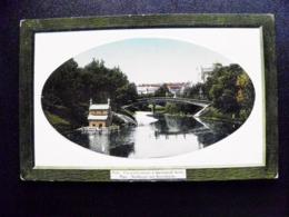 Old Card Carte Riga Latvia Stadtkanal Cannal Und Basteibrucke Bridge Point Brucke - Letland