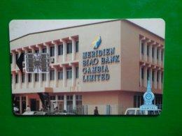 Télécarte Gambie, Bank, 60 Unités, Utilisé, Traces - Gambia