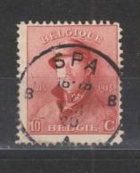 COB 168 Oblitération Centrale SPA - 1919-1920 Trench Helmet