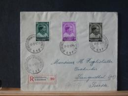 A11/717 LETTRE RECOMM. POUR LA SUISSE 1937 PAR + VIGNETTE VERSO - Belgien