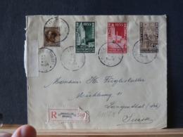 A11/718 LETTRE RECOMM. POUR LA SUISSE 1934 PAR + VIGNETTE VERSO - Belgien