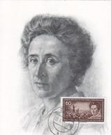 DDR  MAXIMUM CARD  ROSA LUXEMBURG - Famous People