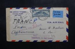 ETATS UNIS - Enveloppe Commerciale De New York Pour La France En 1941 Avec Contrôle Postal Et Taxée - L 47595 - Marcophilie