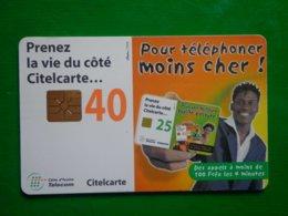 Télécarte Cote D'ivoire, 40 Unités, Utilisé, Traces - Ivory Coast